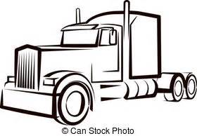 Similiar Semi Truck Outline Drawing Keywords.