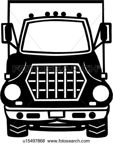 Clip Art of , construction, equipment, heavy, lorrie, semi.