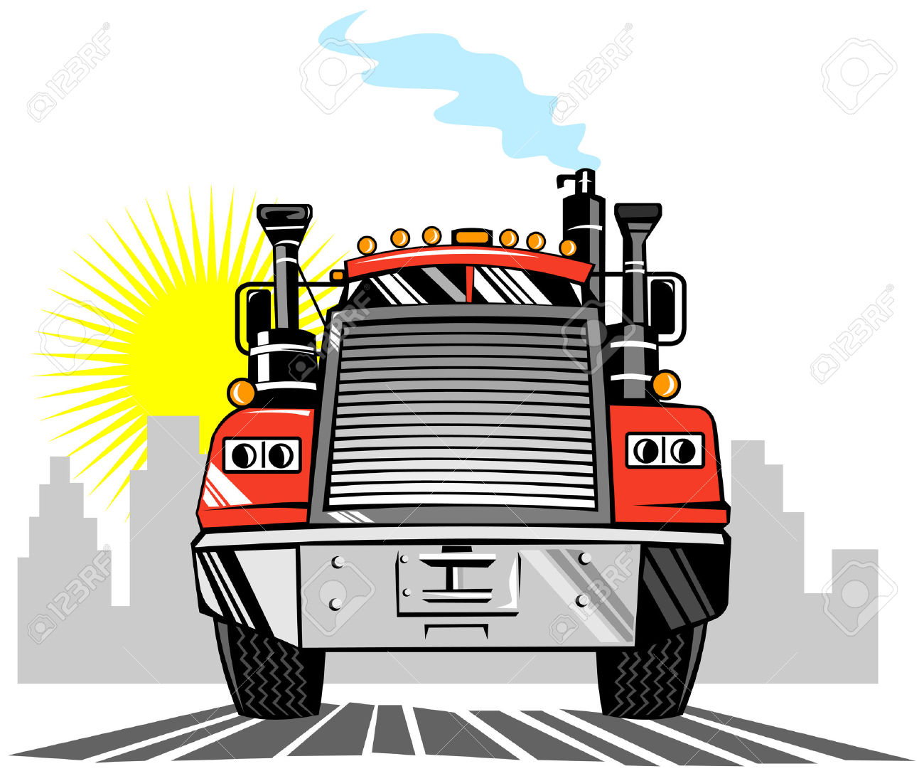 Truck Front View Clipart.
