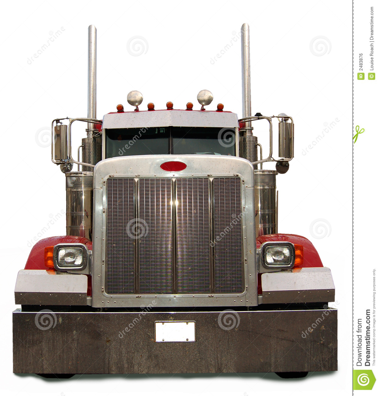 Semi Truck Front View Clipart.