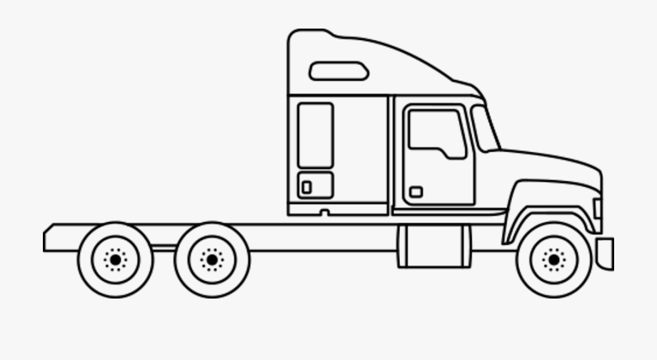 Semi Drawing Cabover.
