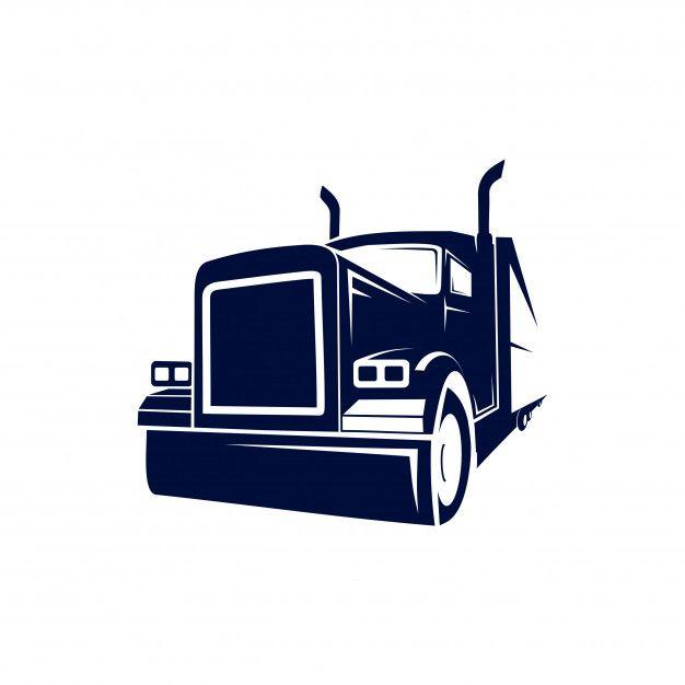 Truck semi monster logo Vector.