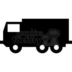 Uhaul box truck Silhouettes clipart. Royalty.