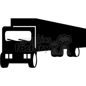 Semi Truck Silhouettes clipart. Royalty.