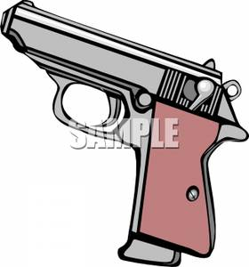 A_Semi_Automatic_Handgun_Royalty_Free_Clipart_Picture_100422.