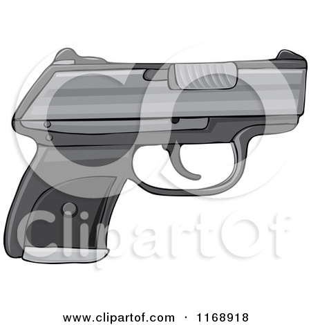 Cartoon of a Semi Automatic Hand Gun.