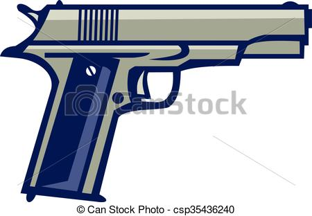 Semi automatic pistol Clip Art and Stock Illustrations. 107 Semi.