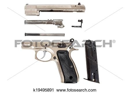 Stock Photography of disassembled Semi.