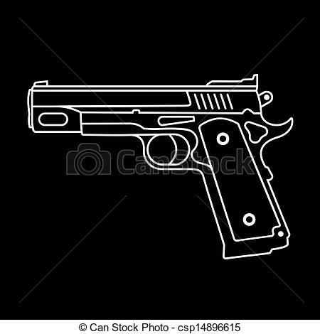 Semi automatic pistol Clip Art and Stock Illustrations. 107 Semi.