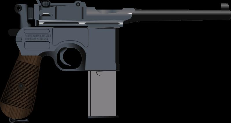 Semi automatic pistol clipart.