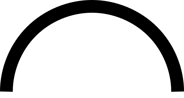 White Semi Circle Clip Art at Clker.com.