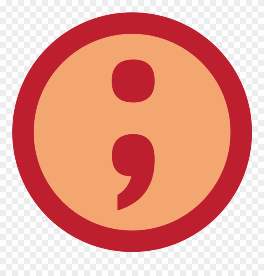 An Icon Showing A Semicolon.