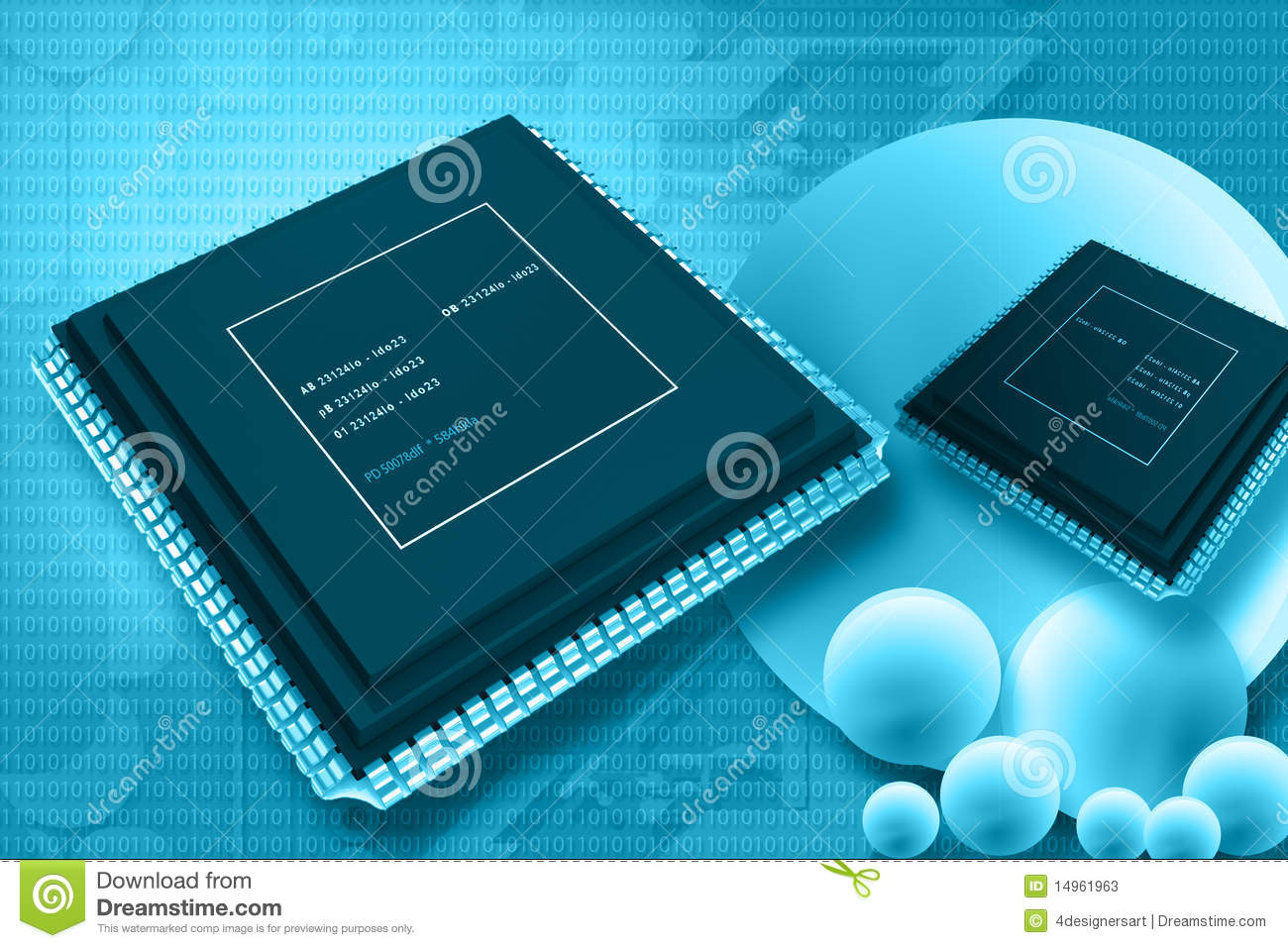 Semiconductor Stock Illustrations.