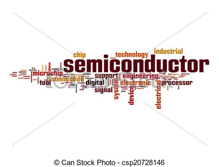 Semiconductor icon clipart.