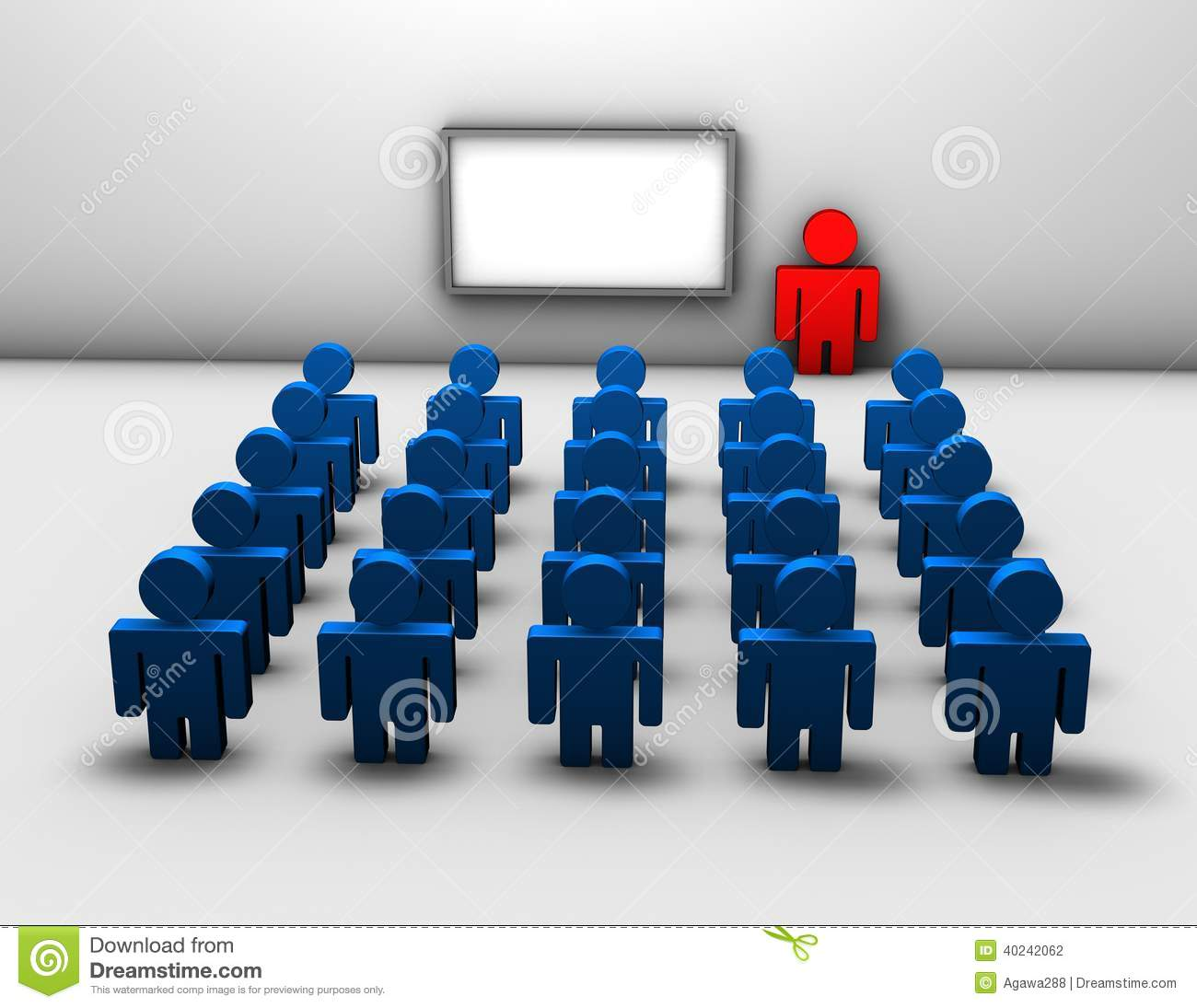 Seminar, Business Training 3d Abstract Concept Stock Illustration.