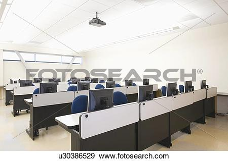 Stock Photograph of Computer seminar room u30386529.