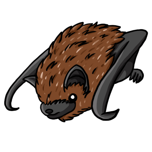 Brown bat clipart.