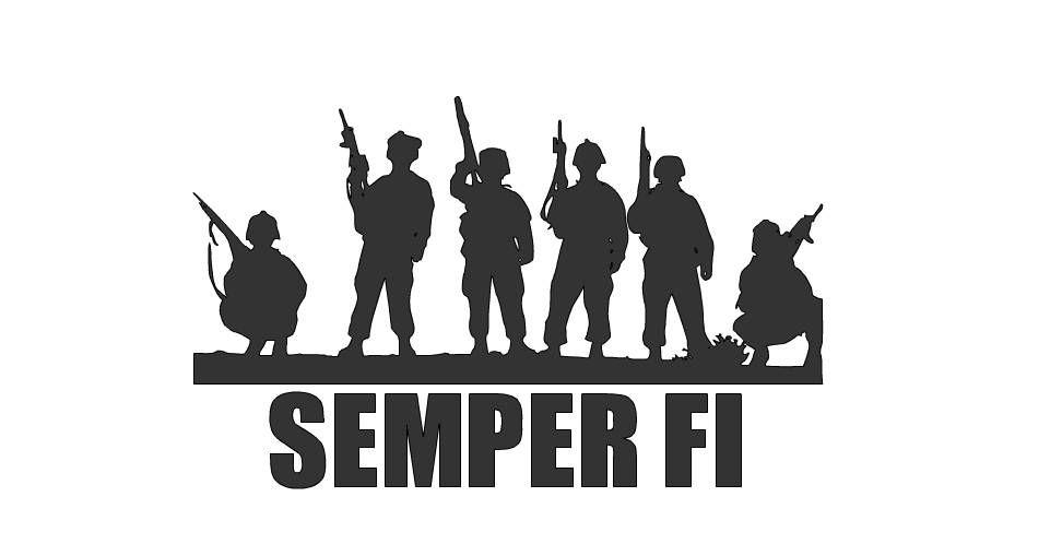 Semper Fi Decal, USMC Wall Art, Marines decal, U.S. Marines.
