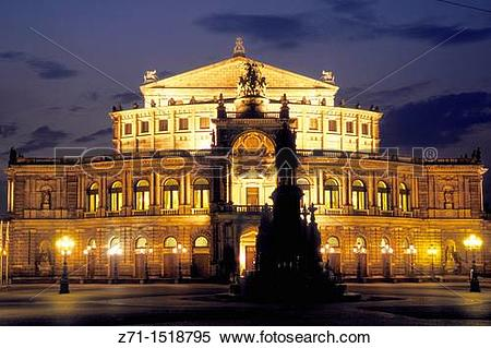 Stock Image of Semper Opera, Dresden, Saxony, Germany z71.