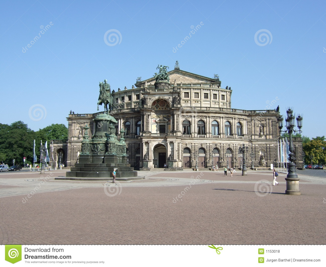 Semper Opera House, Dresden Royalty Free Stock Photos.