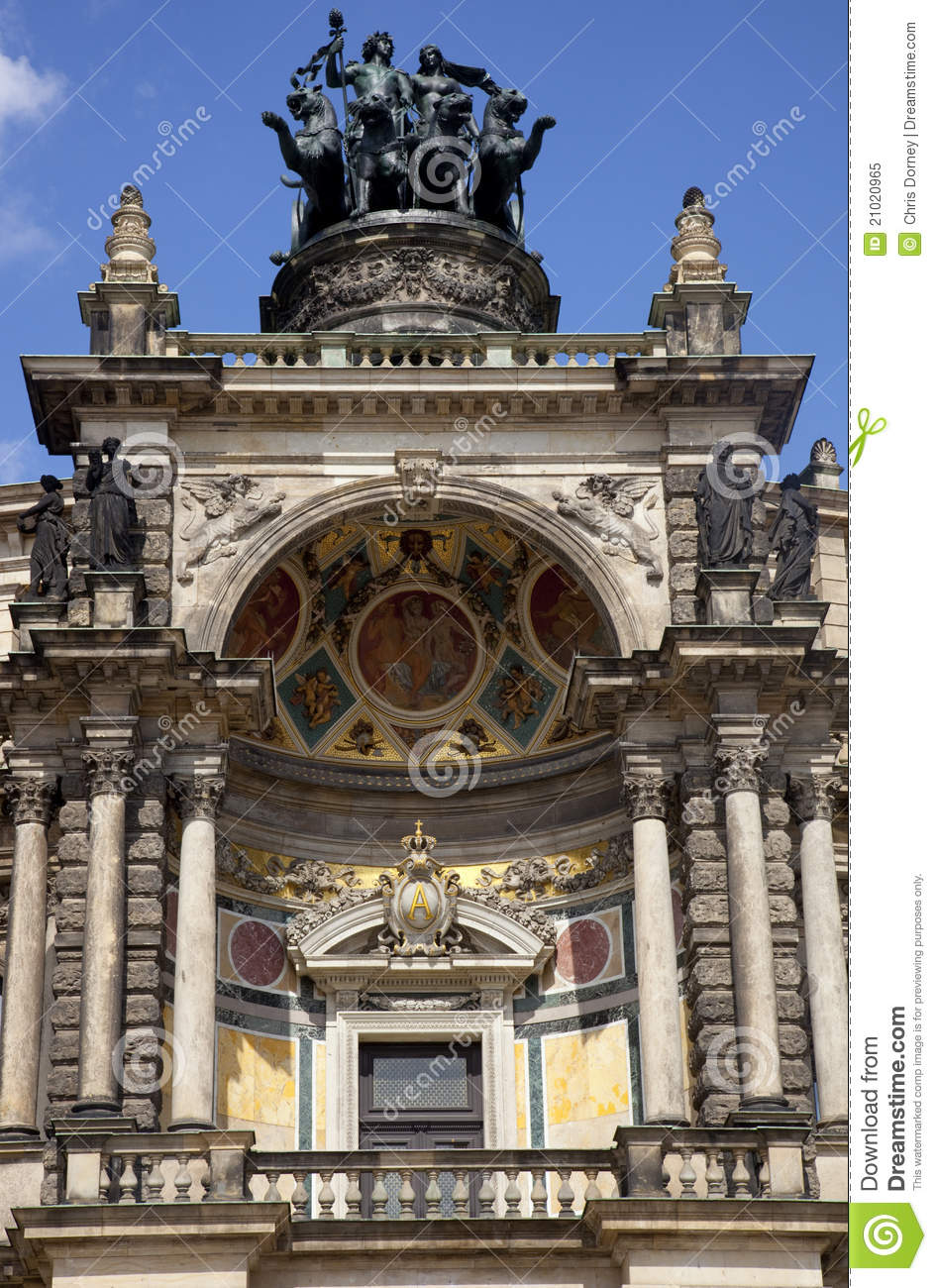 The Semper Opera House In Dresden Royalty Free Stock Photo.