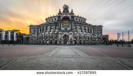 Dresden House Opera Semper Stock Photos, Royalty.