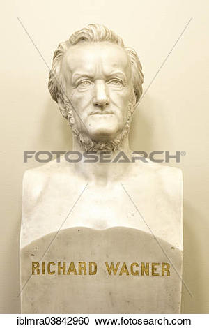 "Stock Photography of ""Bust of Richard Wagner in the Semperoper."