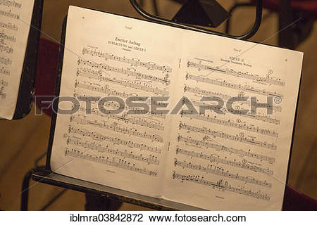 "Stock Photo of ""Sheet of music for the Tannhauser opera by Richard."