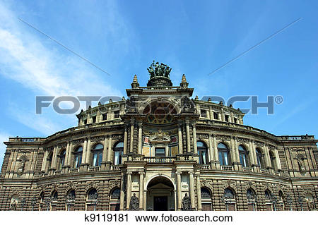 Clipart of Semperoper dresden k9119181.