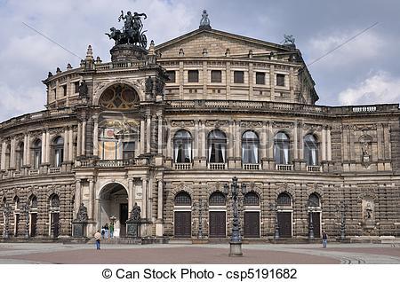 Stock Foto von semperoper, Dresden, Gebäude.