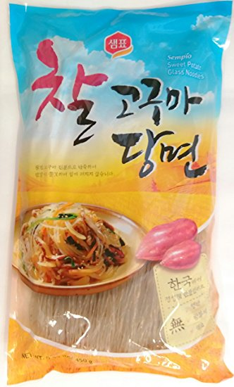 Amazon.com : Sempio Glass Noodles, Korean Vermicelli, Dangmyun.