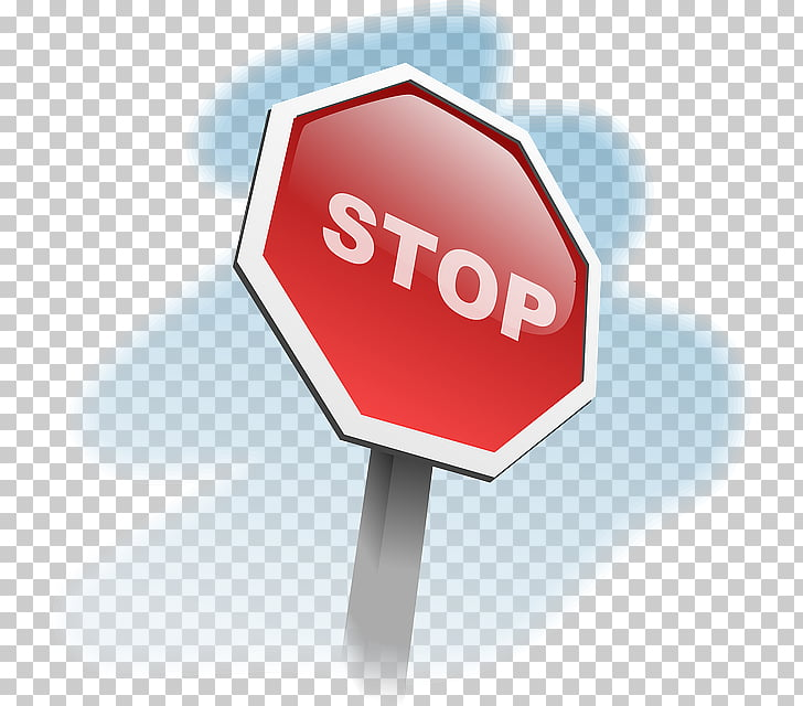 Señal de stop señal de tráfico de dibujos animados, señal de.