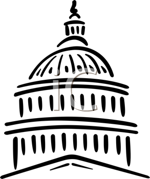 House And Senate Clipart Black.