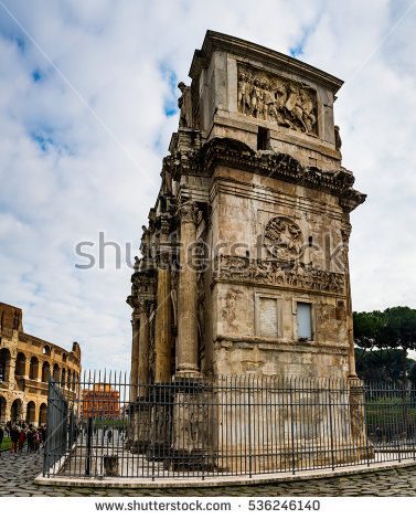 Arch Of Constantine Stock Photos, Royalty.