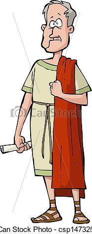 Roman Senator Clipart.