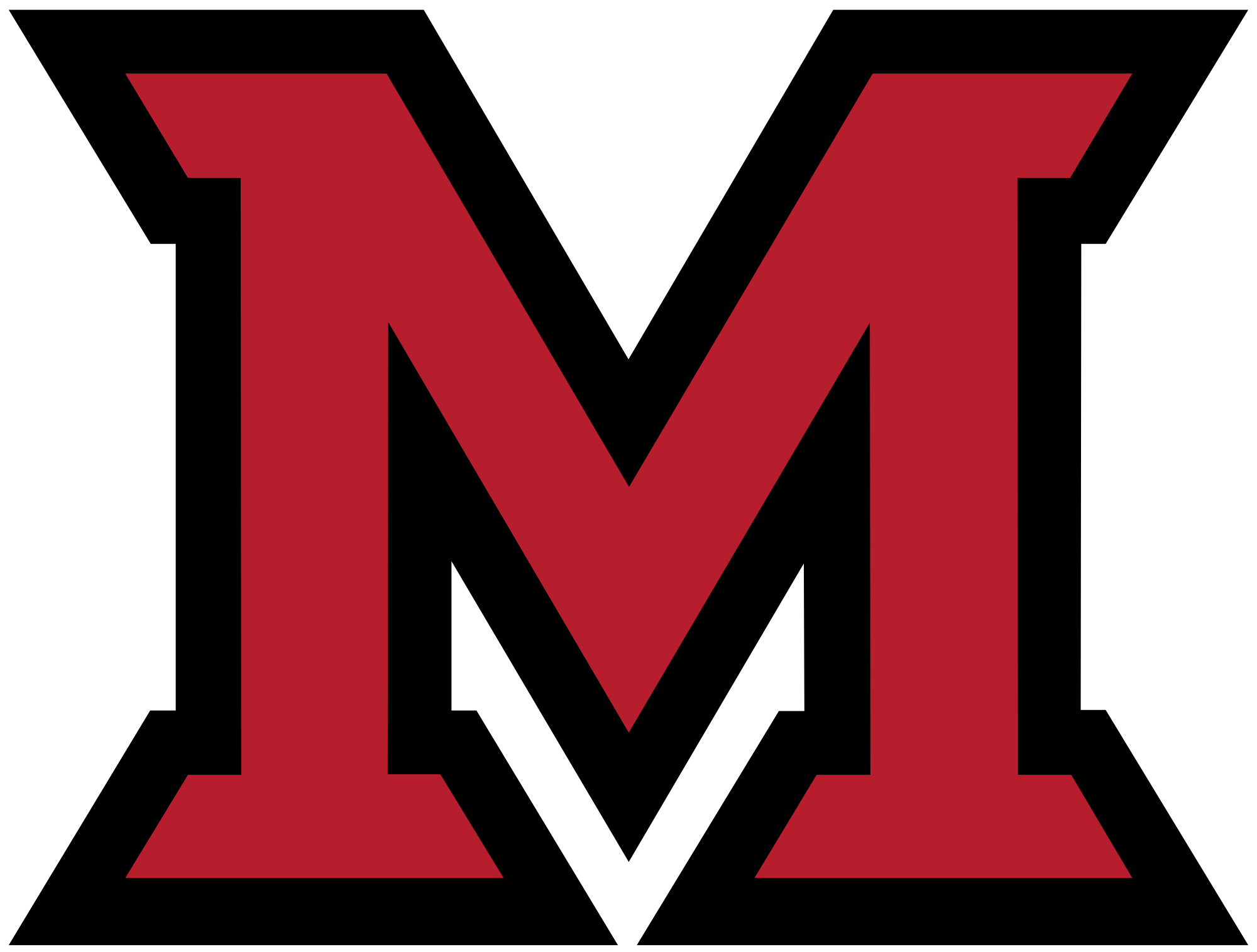 Miami RedHawks men's ice hockey.