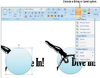 How to Choose How Objects Overlap on Your PowerPoint 2007 Slides.