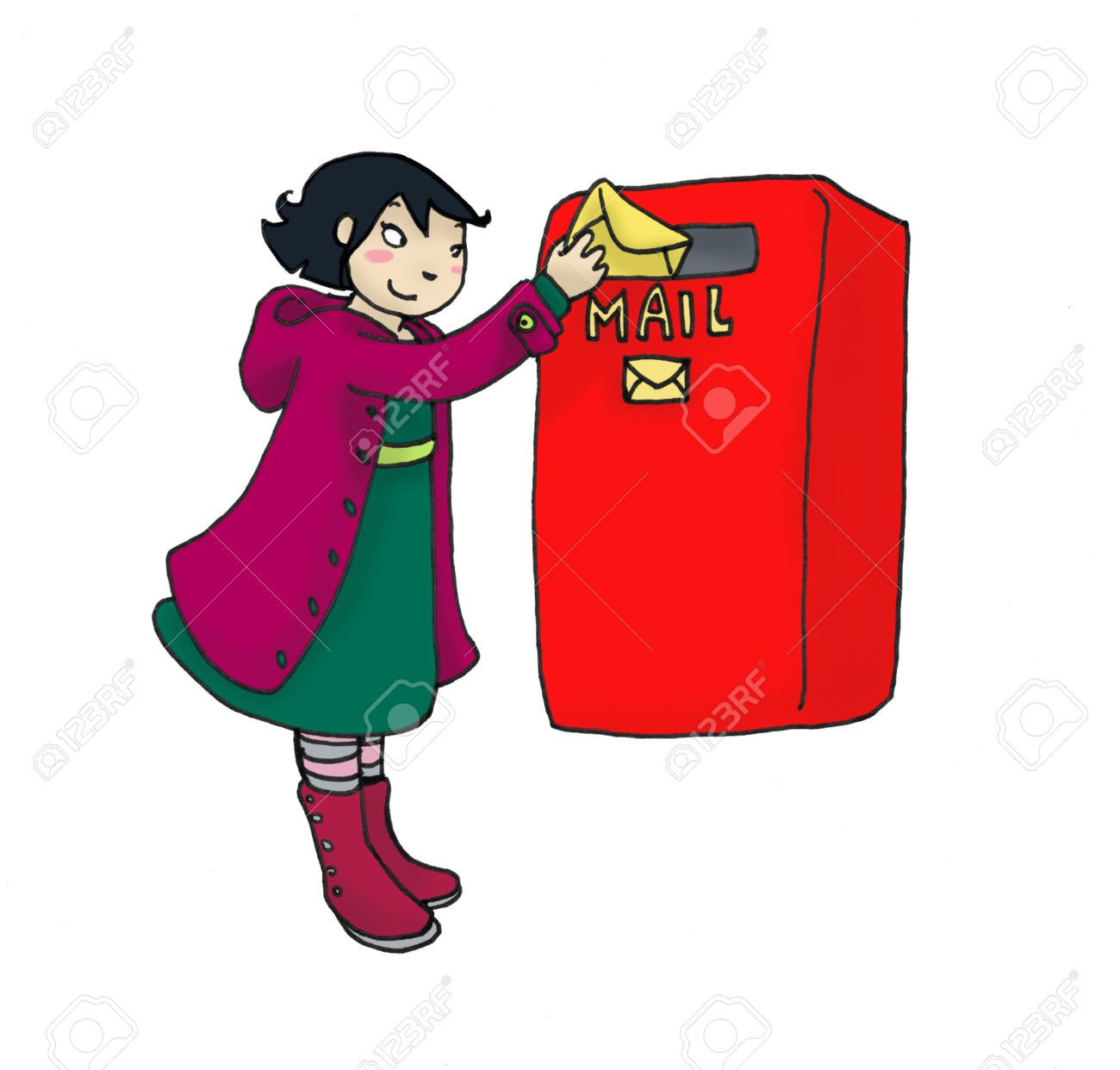 Posting A Letter Clipart.