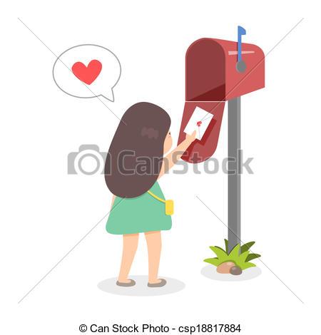 Sending Love Clipart.