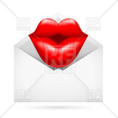 Send a kiss clipart.