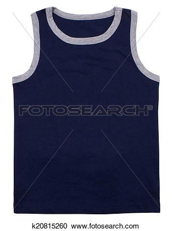 Stock Photography of Sleeveless unisex shirt isolated on white.