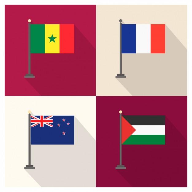 Senegal grunge flag Photo.