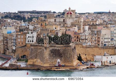 Top View Of Senglea (Three Cities). Malta Stock Photo 69673354.