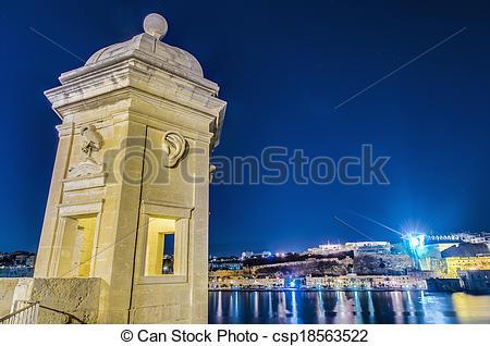 Stock Photo of Fort Saint Michael in Senglea, Malta.