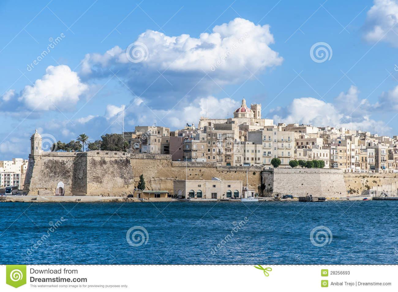 Fort Saint Michael In Senglea, Malta Stock Photos.