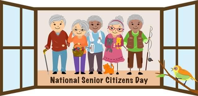 National Senior Citizens Day Senior Citizens Clipart.