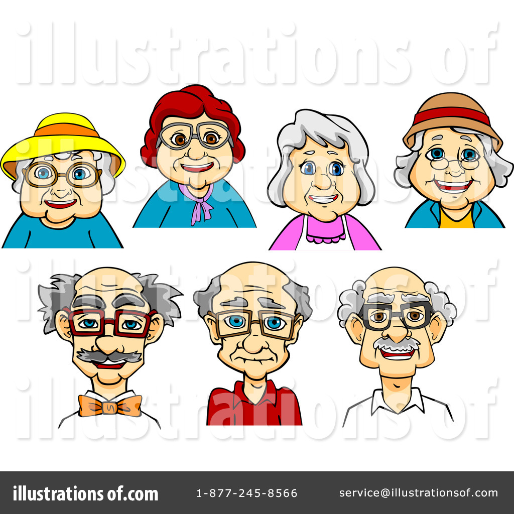 Senior Citizen Clipart #1300144.