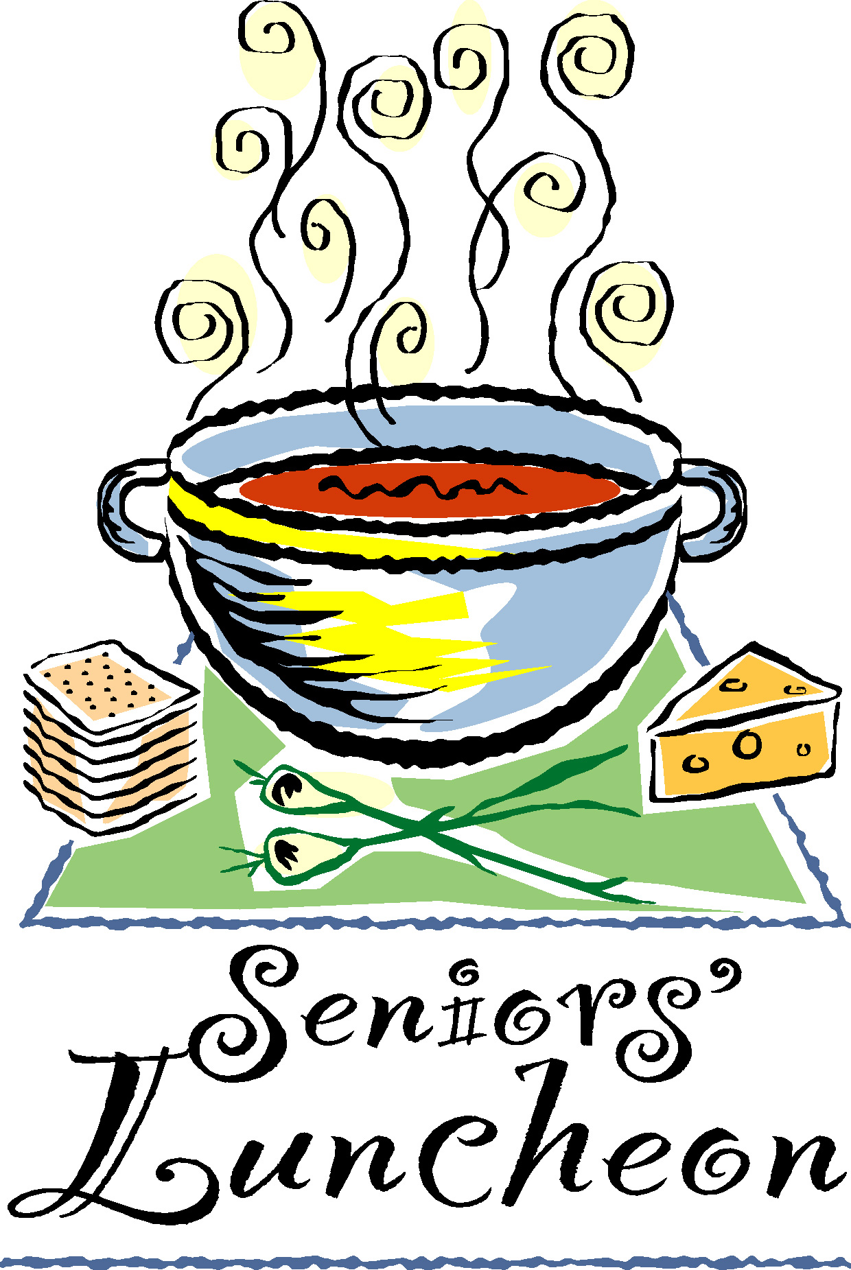 Clipart Of Senior Citizens Lunch.