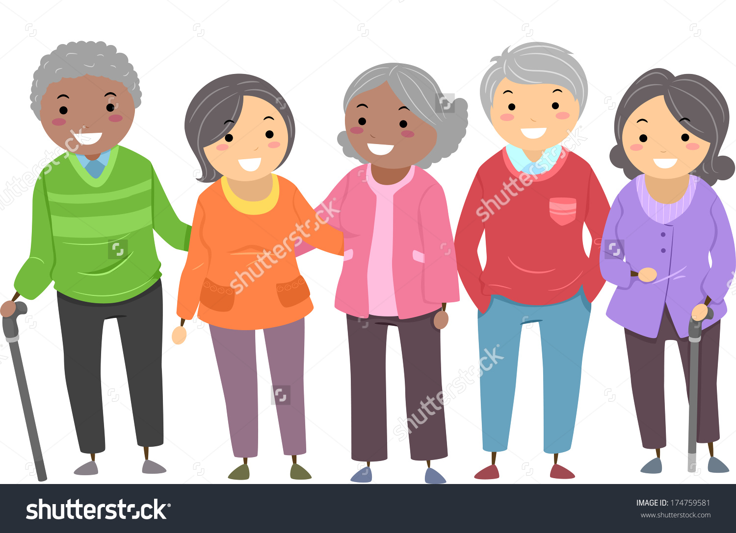 Showing post & media for Cartoon senior citizen clip art.
