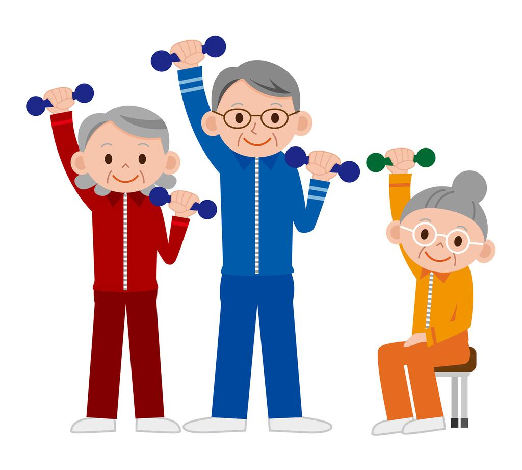 Cartoon Exercise Clipart Seniors Chair Senior.